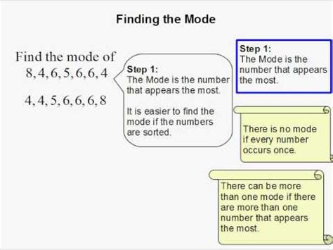 how to a to find how to find the mode