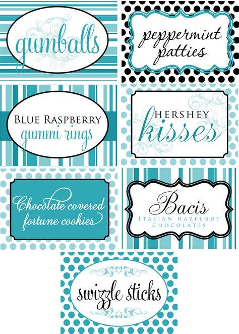 free buffet cards templates signatures by wedding stationery for julie