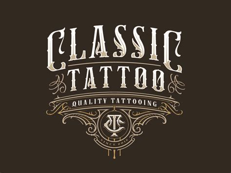 tattoo shop logo design classic 2 by mateusz witczak dribbble