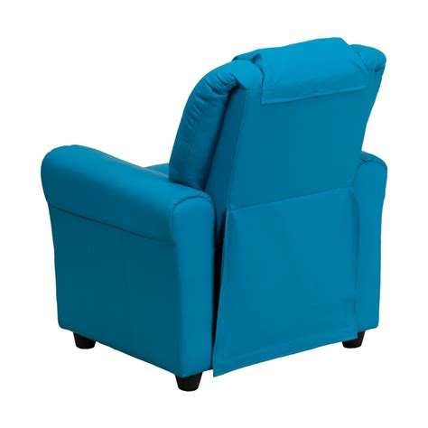 Turquoise Recliner Chairs by Flash Furniture Turquoise Vinyl Recliner