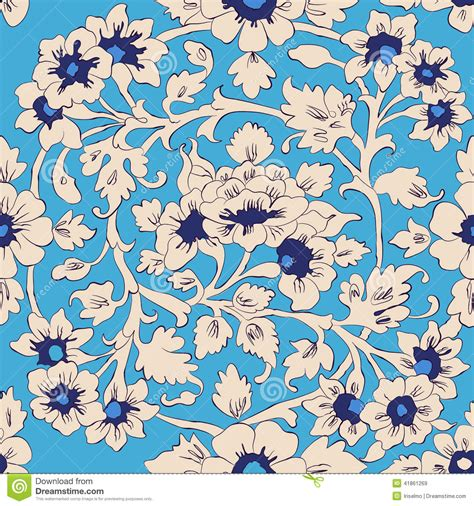 pattern islamic floral classic islamic floral pattern stock vector illustration