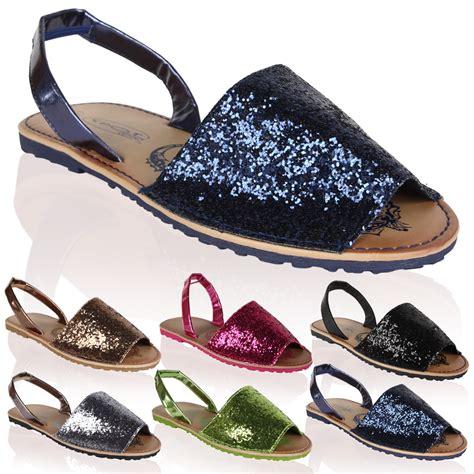glitter sandals glitter sling back flat womens summer flip flops