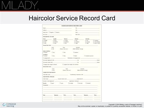 client record card template client record card template direct salon supplies customer