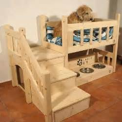 pet bunk bed dog bunk beds with feeding station things i like