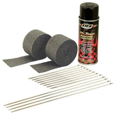 Motorrad Auspuff Reparatur by Dei 010330 Motorcycle Exhaust Pipe Wrap Kit Black