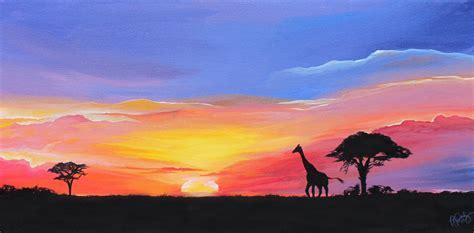 Vibrant Landscape Pictures Sunset Landscape Painting Vibrant Masai Mara