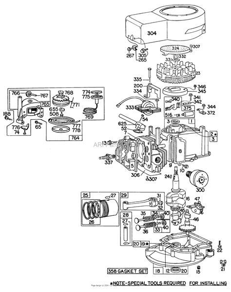 briggs and stratton lawn mower engine parts diagram briggs and stratton lawn mower parts diagram grand