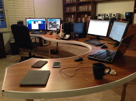Diy Computer Desk Plans Home Diy Computer Desk Lots From R Battlestations Asked For It So Here It Is Imgur Home Decor