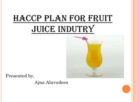Student Agreement Template haccp plan for fruit juice industry 000157