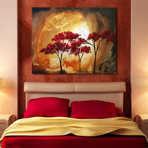 artwork for bedroom simple room decoration with tree wall mural painting of