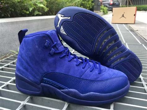 Air 12 Retro Royal Blue Suede Legit air 12 royal blue suede release info justfreshkicks