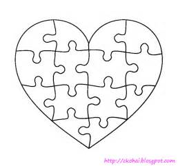 puzzle of life 谜图人生 free heart shaped puzzle template
