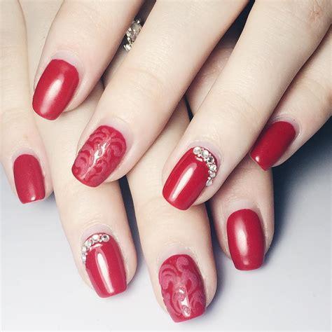 nails pattern psd beautiful red nail art designs design trends premium psd