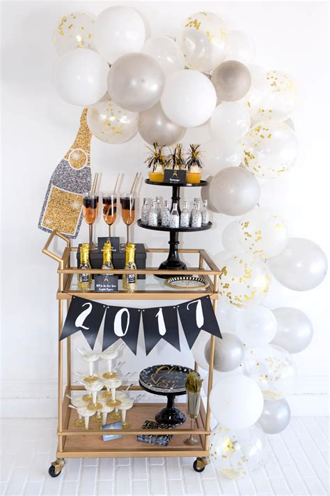 new year decorations design throw a black gold silver new year s