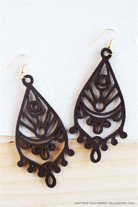 Faux Leather Earring diy cutout faux leather mandala earrings minted strawberry