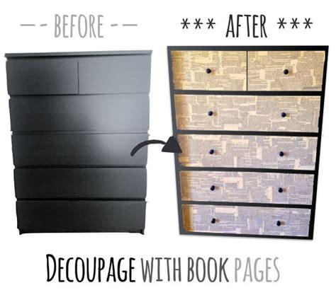 Ikea Hack Malm Dresser by Beautify An Ikea Malm Dresser With Decoupage Technique