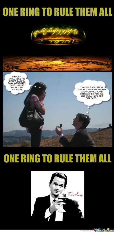 Ring Meme - one ring to rule them all sure by jdavilacas meme center