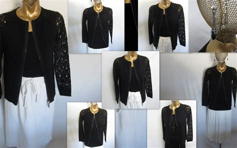 Linea Cardi the black cardi with lace sleeves 171 louis dell olio