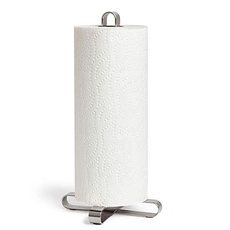 bed bath and beyond paper towel holder umbra 174 pulse paper towel holder in nickel bed bath beyond