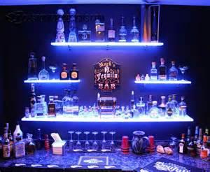 Wine Themed Home Decor Led Lighted Shelves Back Bar Shelving For Home Bars