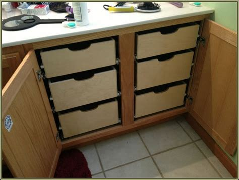 Kitchen Cabinets Pull Out Drawers by Diy Pull Out Drawers For Kitchen Cabinets Cabinet Home