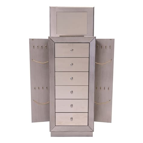 mirrored standing jewelry armoire 25 beautiful mirrored jewelry armoires zen merchandiser