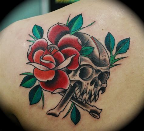 rose skull tattoo tattoos designs ideas and meaning tattoos for you