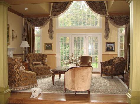 Traditional Living Room Window Treatments Window Treatments