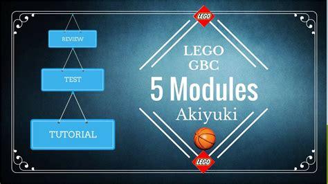 lego gbc tutorial tutorial lego gbc 5 modules akiyuki youtube