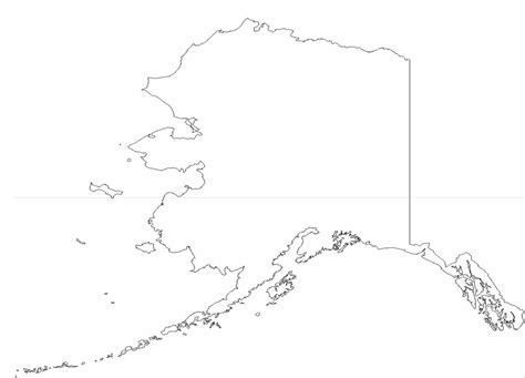 us map outline with alaska and hawaii alaska state outline map free