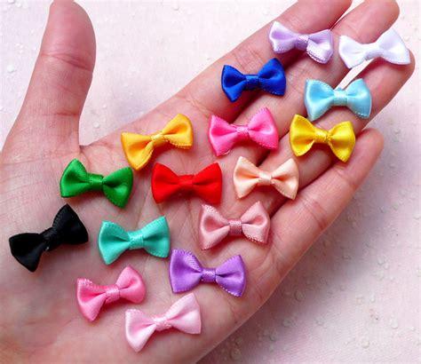 Dompet New Mini Ribbon mini fabric ribbon bow tie tiny satin bows by miniaturesweet