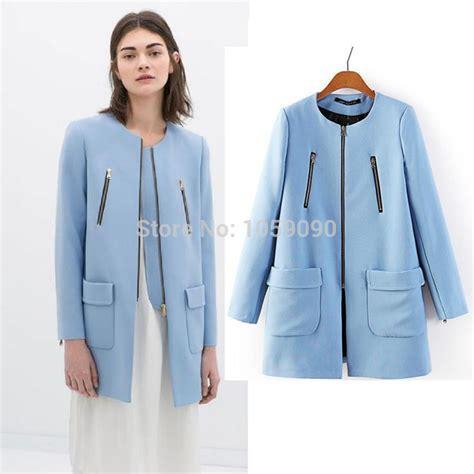 light blue coat womens aliexpress com buy 2014 new autumn winter za light blue