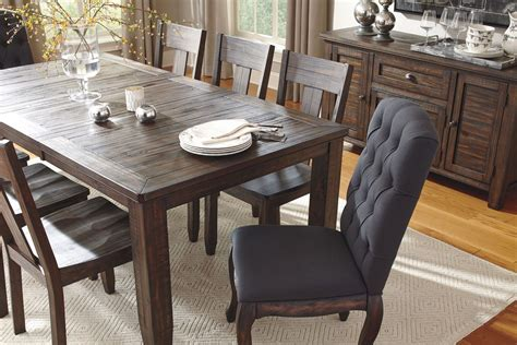 dark brown dining trudell dark brown rectangular extendable dining table