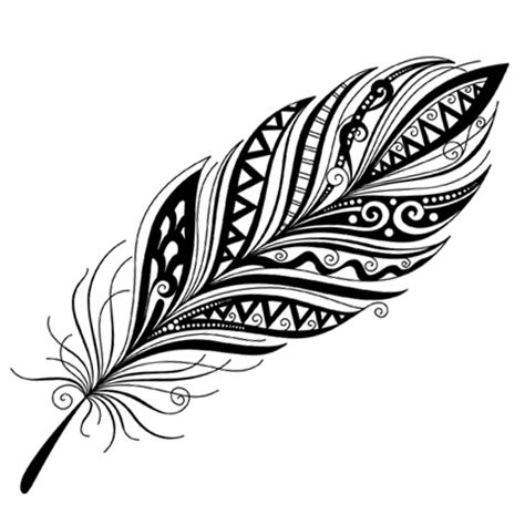 tribal pattern feather tribal feather feathers pinterest tribal feather and
