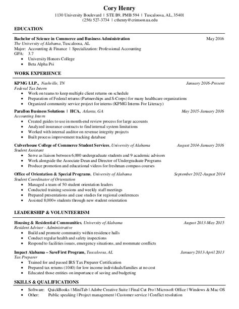 kpmg resume resume ideas