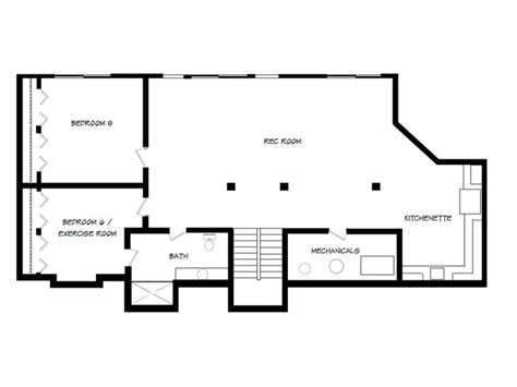 basement house plans walkout ranch style floor monument