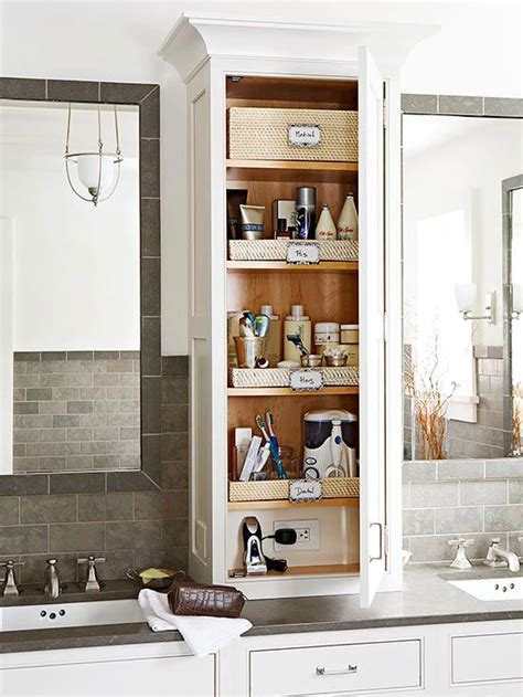 Bathroom Countertop Storage Room By Room Organization Tips Vanities Cabinets And Countertops