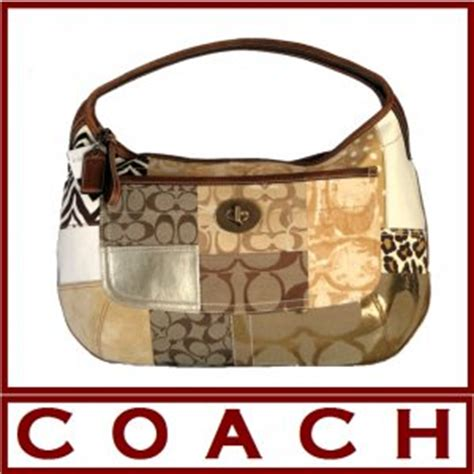 Coach Ergo Patchwork Tote by New Authentic Coach Ergo Large Signature Patchwork Hobo