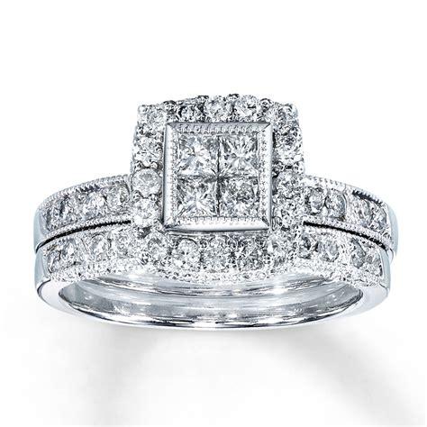 jared bridal set 1 1 4 ct tw diamonds 14k white gold