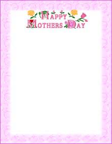mothers day frames free coloring pages of pre school papers borders