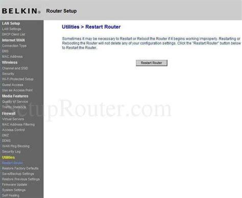 how to update belkin wireless router belkin f9k1105v1 screenshots