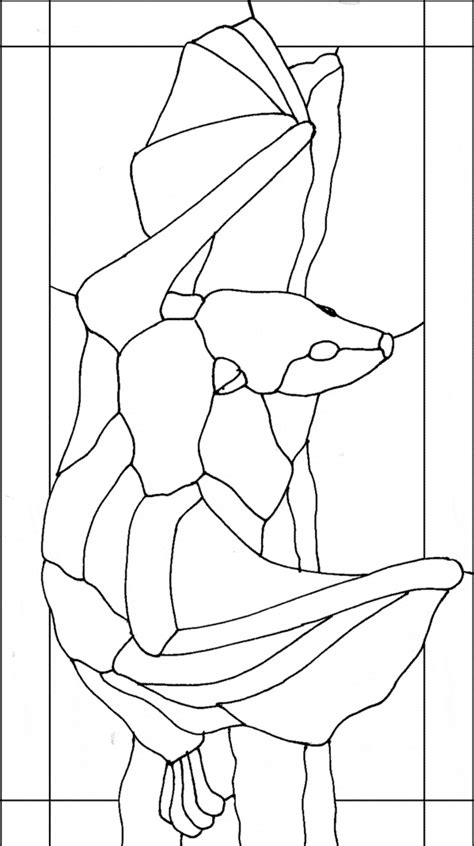 free coloring pages of fox face template