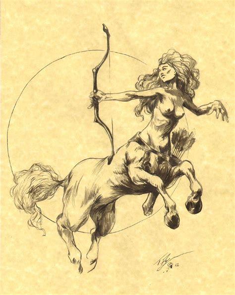 centaur tattoo the world of tflynn centaur with bow on parchment