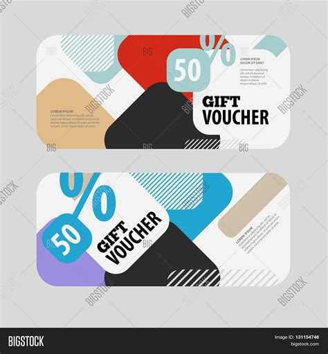 gift for architect abstract gift voucher coupon vector photo bigstock