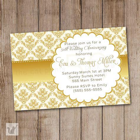 card factory golden wedding invitations invitation cards golden wedding image collections