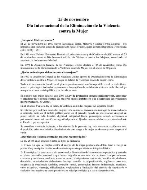 discurso por el da internacional de la mujer 25 de noviembre quot d 237 a internacional de la eliminaci 243 n de