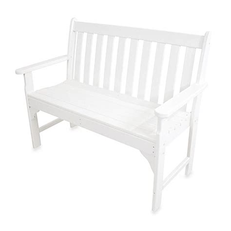 polywood vineyard bench buy polywood 174 vineyard bench in white from bed bath beyond