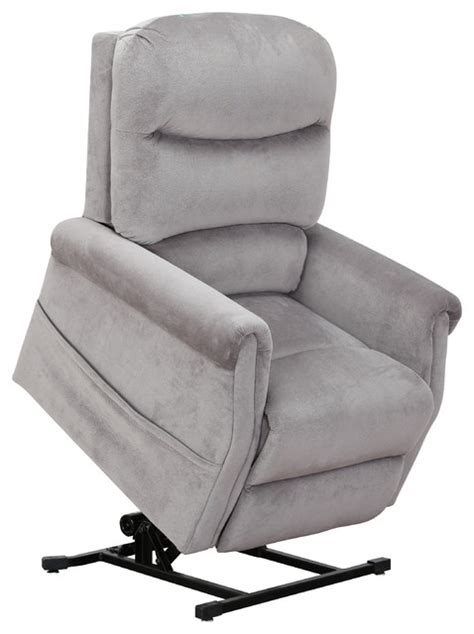 plush recliner chair classic plush power lift recliner living room chair