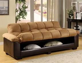 brantford camel espresso elephant microfiber plush futon
