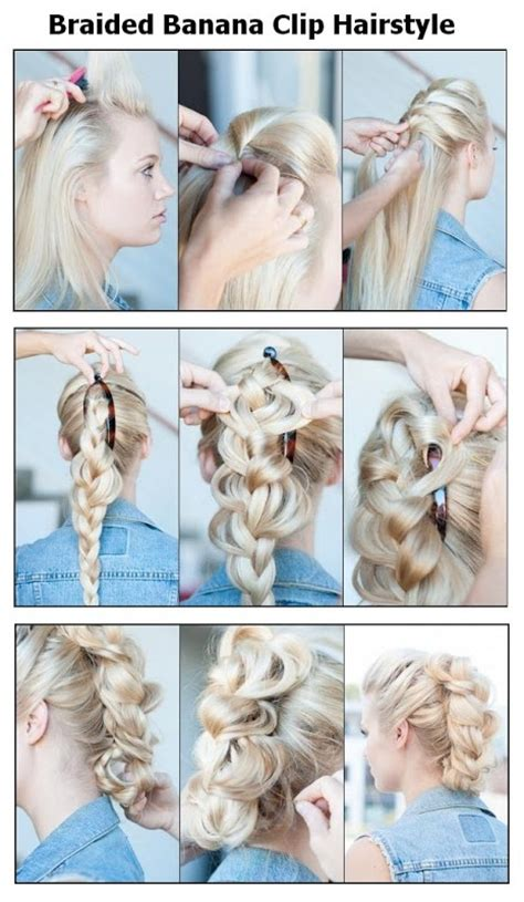 styles with banana clip braided banana clip hairstyle hairstyles tutorial hair